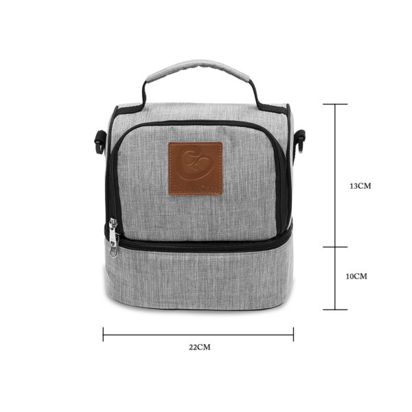 Dimensions of Eonian Care Pumping On-the-go Companion Cooler Bag