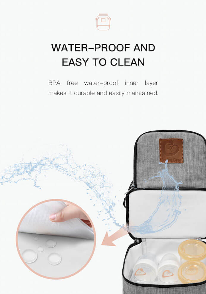 Waterproof Pumping On-the-go Companion Cooler Bag