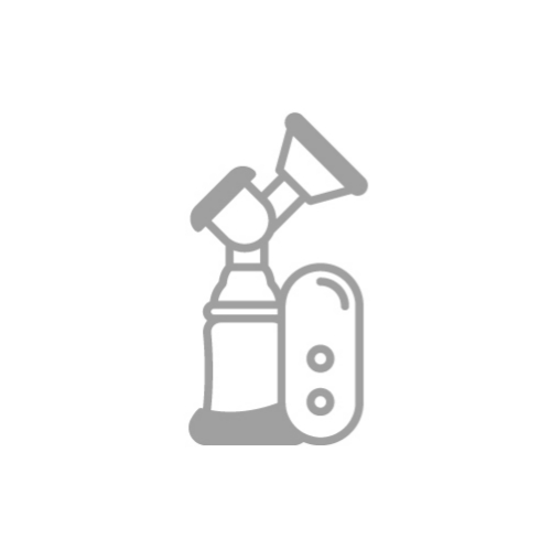 Grey breast pump icon