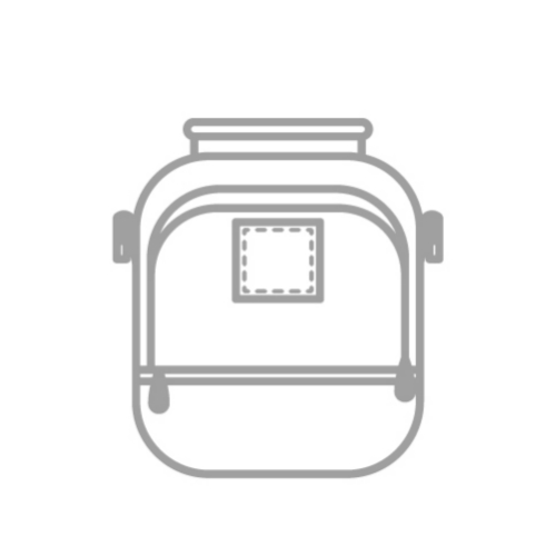 Grey backpack icon