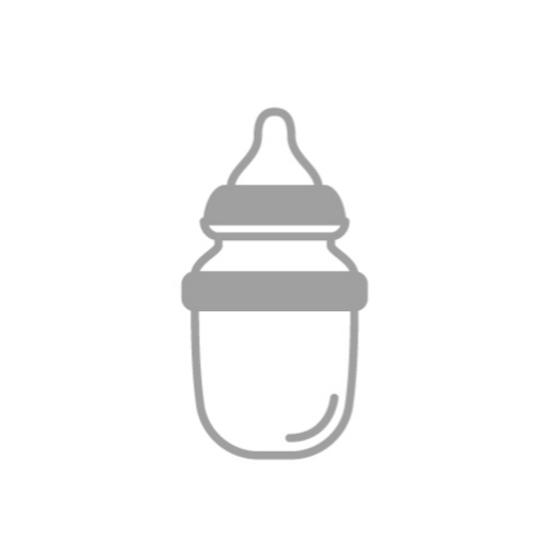 Grey Baby bottle icon