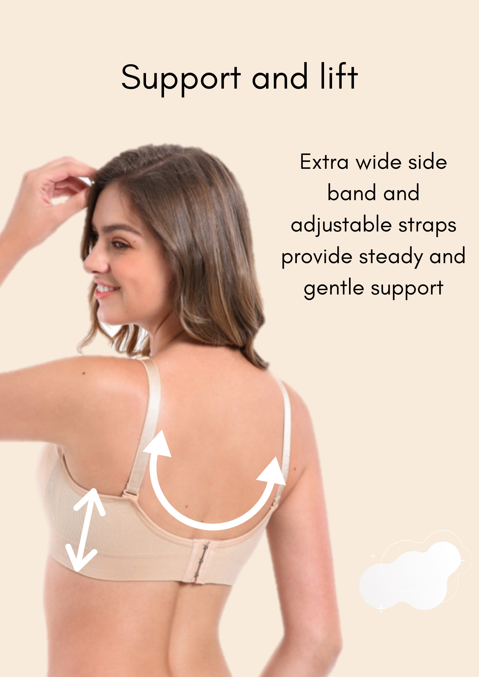 pumping bra support & lift information