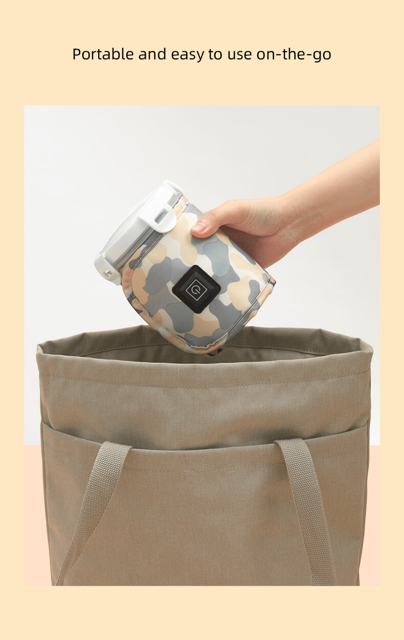 Portable and easy to use on-the-go baby wipe warmer