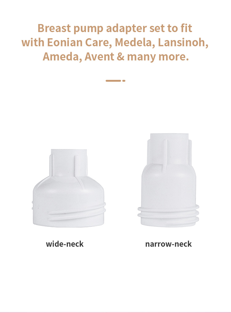 eonian care breast pump adapter set in white background